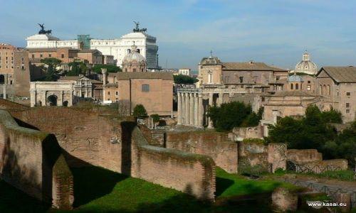 WłOCHY / brak / Rzym / Rzym widok na Forum Romanum z Pallatynu