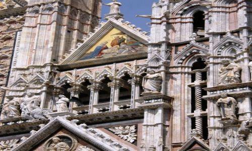 Zdjecie WłOCHY / Toskania / Siena / Fasada katedry - fragment