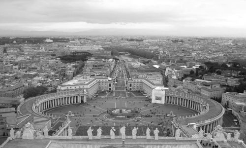 Zdjecie WłOCHY / Rzym / Watykan plac św.Piotra / jeden z największych i najpiękniejszych placów na świecie