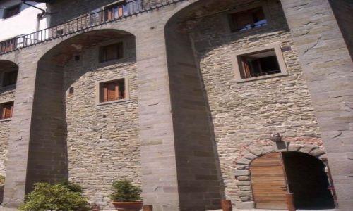 Zdjecie WłOCHY / Toskania / San Eremo di Cameldoli / Mury przyporowe klasztoru