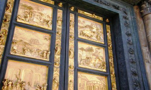 Zdjecie WłOCHY / Toskania / Florencja / Złote drzwi
