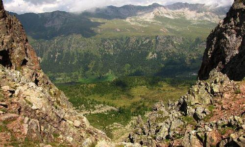 Zdjecie WłOCHY / . / Dolomity / Widok z Col Margherita na przełęcz San Pelegrino