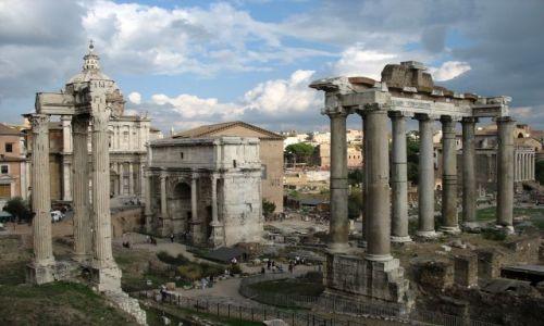 Zdjecie WłOCHY / Rzym / Forum Romanum / pozostałości wi