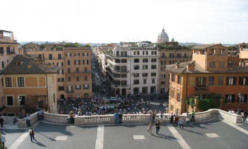 Zdjecie WłOCHY / Rzym / Rzym / nad schodami hiszpańskimi