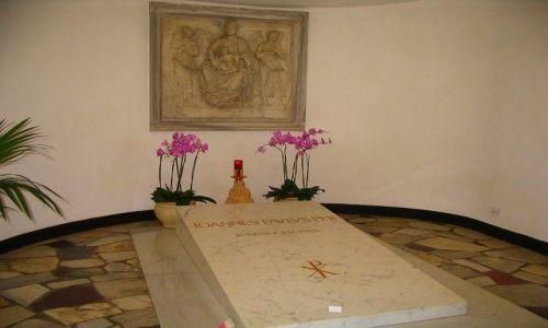 Zdjęcie WłOCHY / Lacjum / Rzym - Watykan / Grób Jana Pawła II w Watykanie