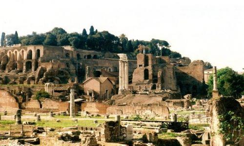 Zdjęcie WłOCHY / Lacium / Rzym / Forum Romanum z Palatynem