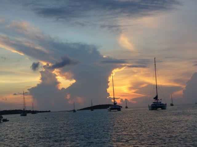 Zdjęcia: Marigot (St. Martin), Karaiby, Zachód słońca nad Marigot, WYSPY KARAIBSKIE