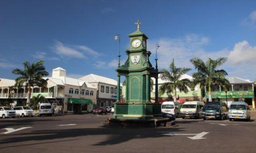 Zdjęcie WYSPY KARAIBSKIE / - / Saint Kitts i Nevis / Saint Kitts  / wiktorianski zegar