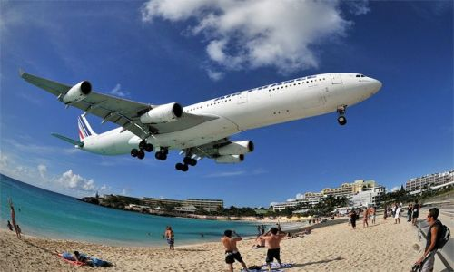 WYSPY KARAIBSKIE / Sint Maarten / Princess Juliana International Airport SXM, Maho Beach / Plazowe atrakcje !