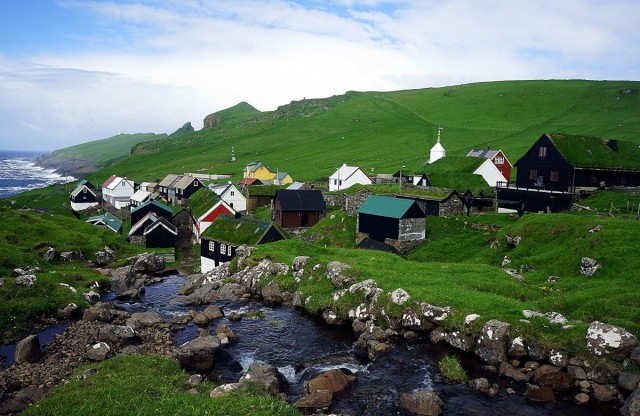 Zdjęcia: Mykines, Sørvágur, Nad strumieniem, WYSPY OWCZE