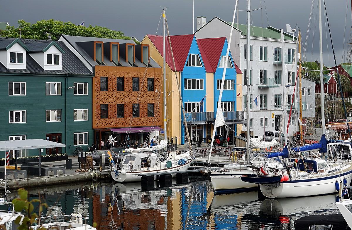 Zdjęcia: Thorshavn, Wyspa Streymoy, Marina, WYSPY OWCZE