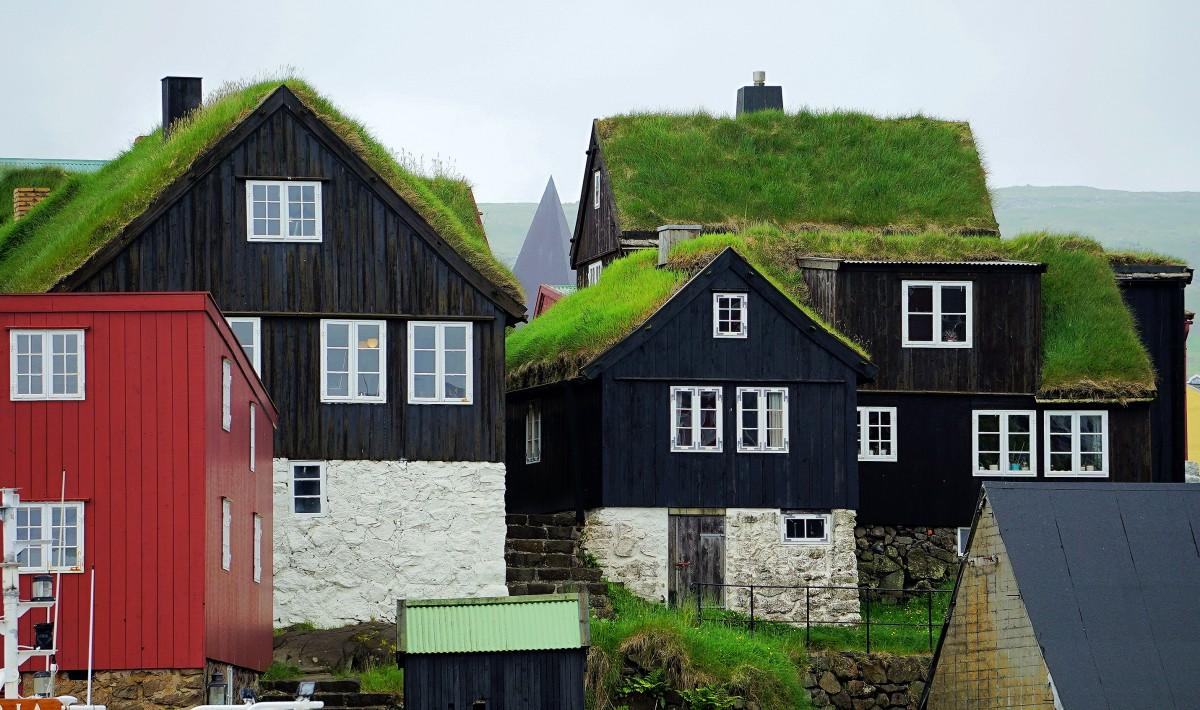 Zdjęcia: Thorshavn , Wyspa Streymoy, Domki Starego Miasta, WYSPY OWCZE