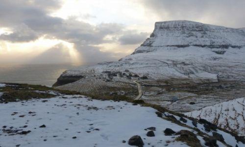 WYSPY OWCZE / Vagar / Gasadalur / Śnieg