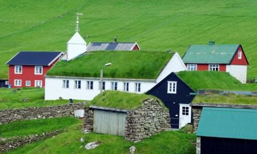 WYSPY OWCZE / Sørvágur / Mykines / Kościół