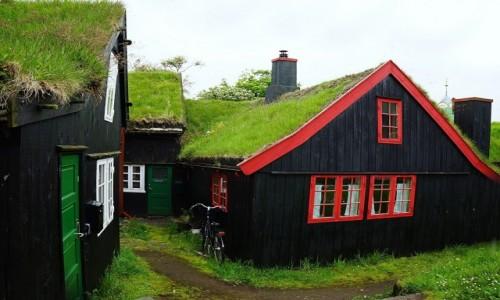 Zdjęcie WYSPY OWCZE / Wyspa Streymoy / Thorshavn  / Zaułek Starego Miasta