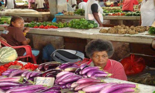 WYSPY SALOMONA / Pacyfik, Oceania / Guadalcanal, Honiara / Na targu w stolicy