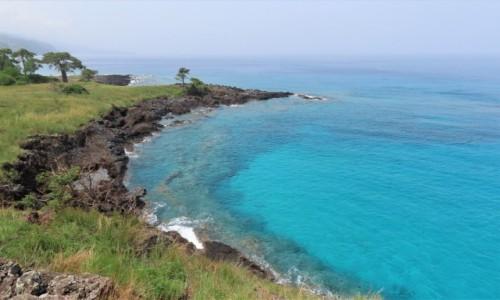 WYSPY ŚWIĘTEGO TOMASZA i KSIĄŻĘCA / Sao Tome / Lagoa Azul / Piękna zatoczka