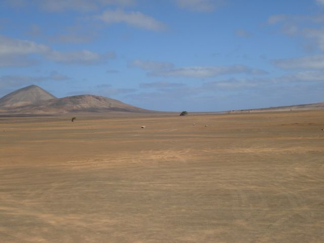 Zdjęcia: pustynia, Sali, Widok fatamorgany na pustyni, Wyspy Zielonego Przylądka