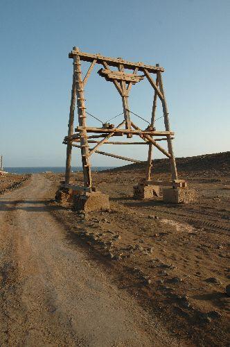 Zdj�cia: Sal-Pedra Lume, pozosta�o�ci po urzadzeniach do transportu soli, Wyspy Zielonego Przyl�dka