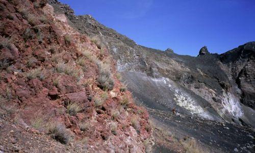 Wyspy Zielonego Przylądka / Fogo / Portella / kolory krateru