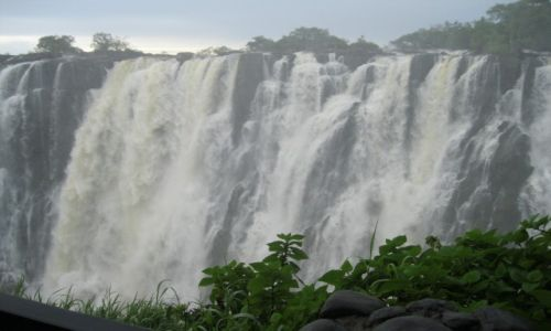 Zdjęcie ZAMBIA / Zambia / Zambia / Wodospady Wiktorii na rzece Zambezi - Zambia