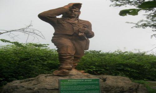 Zdjęcie ZAMBIA / Zambia / Zambia / Pomnik Livingstona, odkrywcy wodospadów Wiktoria