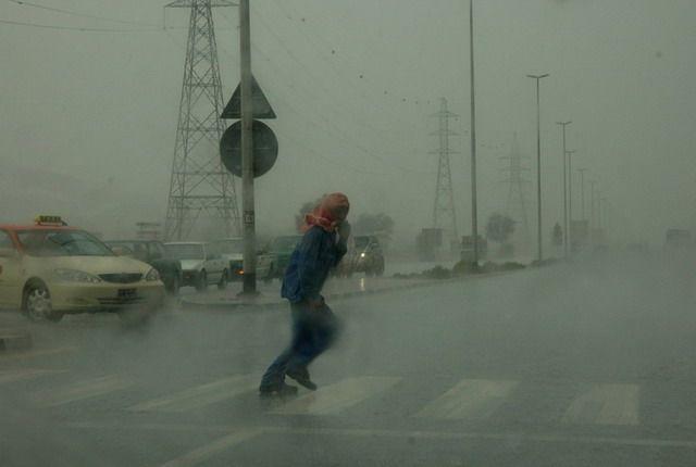 Zdjęcia: Dubai, Burza piaskowa i totalna zawierucha, ZJEDNOCZONE EMIRATY ARABSKIE