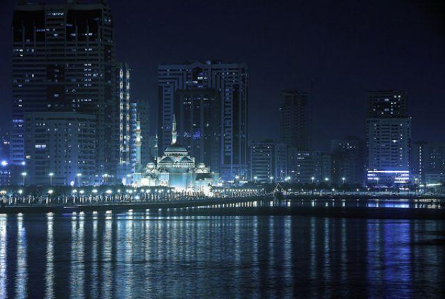 Zdjęcia: SHARJAH, Emiratu  SHARJAH,, w kilorze blue, ZJEDNOCZONE EMIRATY ARABSKIE
