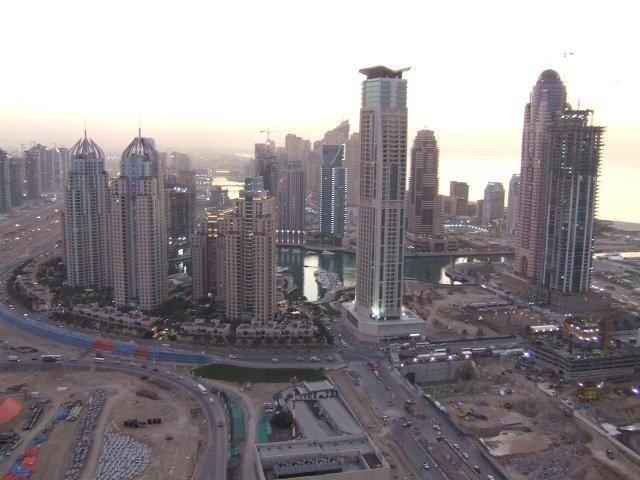 Zdjęcia: Dubaj, Dubaj widok z okna, ZJEDNOCZONE EMIRATY ARABSKIE