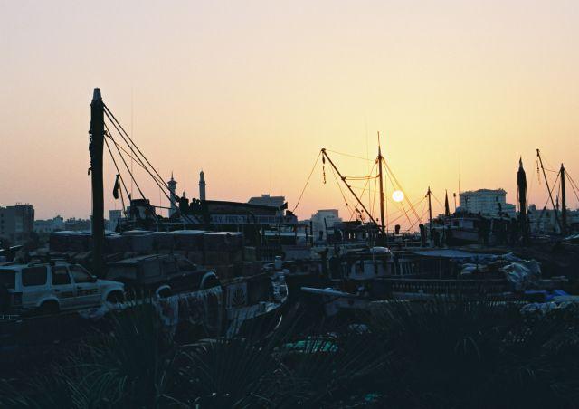Zdjęcia: Dubai, Zatoka Perska, staty port w Dubaju, ZJEDNOCZONE EMIRATY ARABSKIE