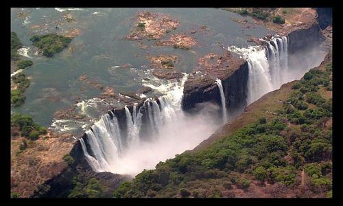 Zdjecie ZIMBABWE / brak / Victoria Falls / Widok z g�ry na