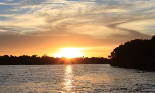 Zdjęcie ZIMBABWE /  - / -  / zachód nad Zambezi
