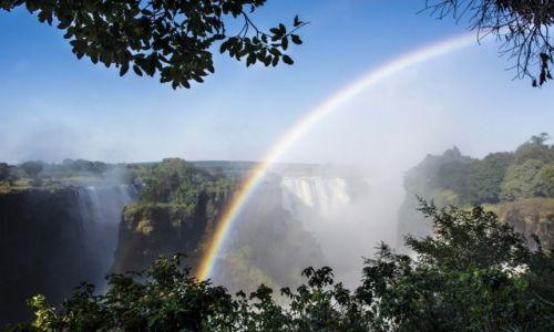 Zdjecie ZIMBABWE / Victoria Falls / Victoria Falls / Tęcza nad Wodos