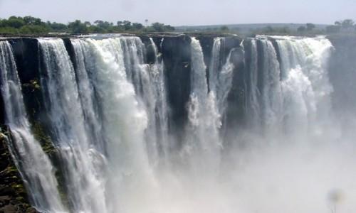 Zdjecie ZIMBABWE / Rzeka Zambezi / Zimbabwe / Wodospady Wikto