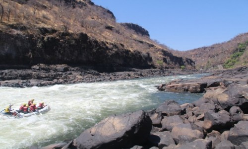 Zdjęcie ZIMBABWE / Pół.  zachodnie Zimbabwe / Rzeka Zambezi / Rafting na Zambezi