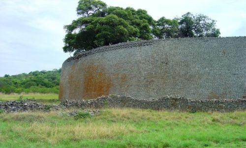 Zdjecie ZIMBABWE / Mashvingo / Great Zimbabwe (National Monument) / Mury obronne Great Zimbabwe
