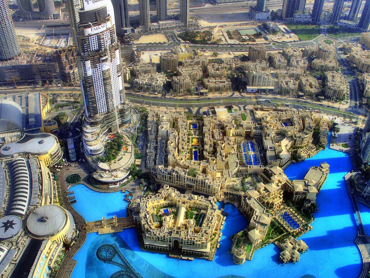 Zdjęcia: Dubaj, Widok na fontanne, ZJEDNOCZONE EMIRATY ARABSKIE