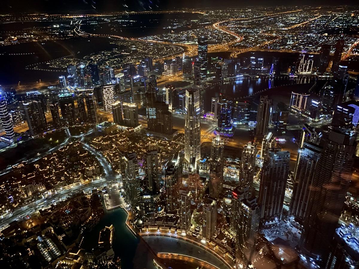 Zdjęcia: Dubaj , Dubaj , Widok z Burj Khalifa nocą , ZJEDNOCZONE EMIRATY ARABSKIE