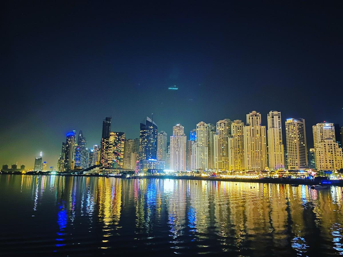 Zdjęcia: Dubaj , Dubaj nocą, ZJEDNOCZONE EMIRATY ARABSKIE