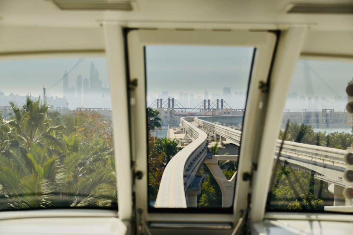 Zdjęcia: Dubaj , Widok z okna kolejki Dubaj , ZJEDNOCZONE EMIRATY ARABSKIE