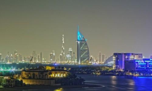 Zdjecie ZJEDNOCZONE EMIRATY ARABSKIE / Dubaj / Dubaj / Dubaj nocą