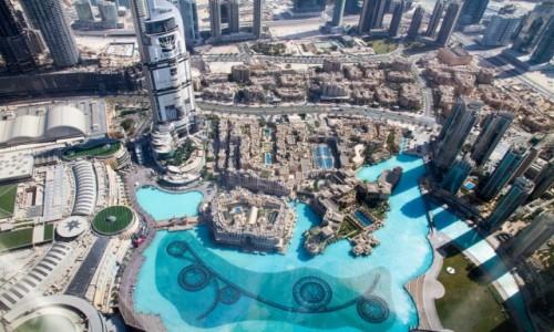 Zdjęcie ZJEDNOCZONE EMIRATY ARABSKIE / Dubai / Dubai / Widok z Burdj Khalifa