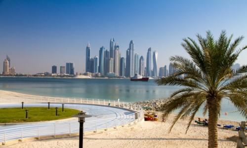 Zdjęcie ZJEDNOCZONE EMIRATY ARABSKIE / Dubai / Dubai / Plaża z widokiem