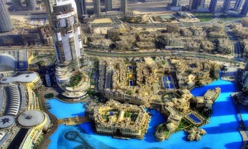 ZJEDNOCZONE EMIRATY ARABSKIE / - / Dubaj / Widok na fontanne