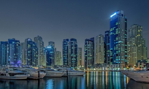 Zdjęcie ZJEDNOCZONE EMIRATY ARABSKIE / Dubaj / Dubaj / Dubaj nocą