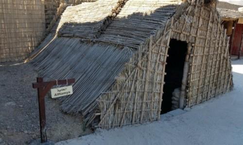 Zdjęcie ZJEDNOCZONE EMIRATY ARABSKIE / Emirat Fudzejra / Fudzejra / Beduinski dom z lisci palmowych