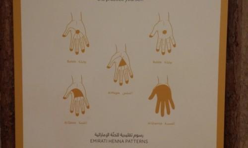 ZJEDNOCZONE EMIRATY ARABSKIE / Emirat Abu Zabi / Abu Zabi / Henna - emirackie wzory