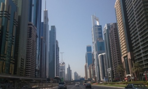 Zdjęcie ZJEDNOCZONE EMIRATY ARABSKIE / Emirat Dubaj / Dubaj / Dubaj - Sheikh Zayed Road