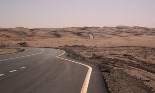 Zdjecie ZJEDNOCZONE EMIRATY ARABSKIE / Emirat Abu Zabi / Liwa / Droga przez pustynie Bu Fallah