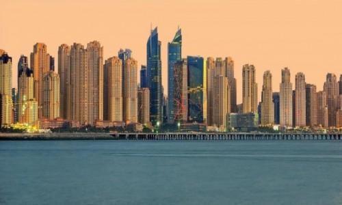 Zdjecie ZJEDNOCZONE EMIRATY ARABSKIE / Dubaj / Widok na Marinę / Dubaj
